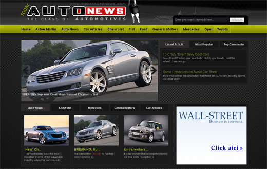 TodayAutoBlog Free WordPress Theme