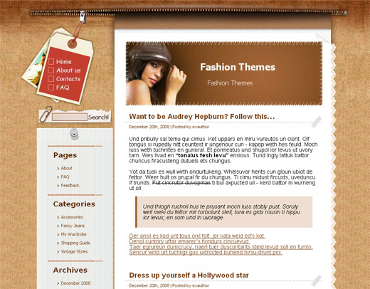 Toggery of Mine Free WordPress Theme