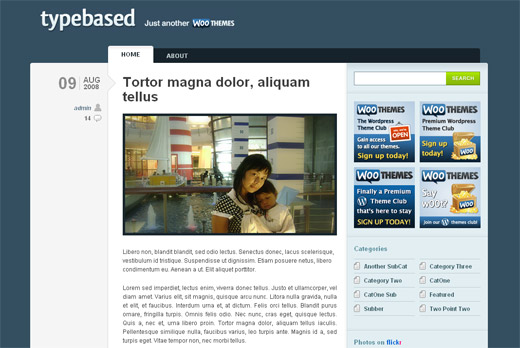 Typebased - Free WordPress Theme