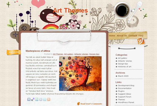 Vector Flower Free WordPress Theme
