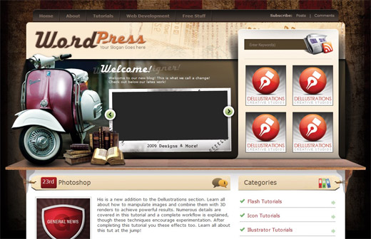 Vintage Free WordPress Theme