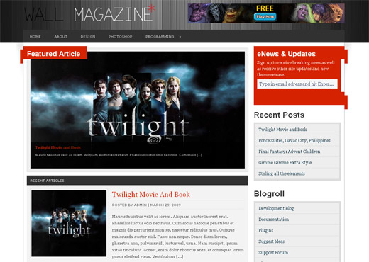 Wall Magazine Free WordPress Theme