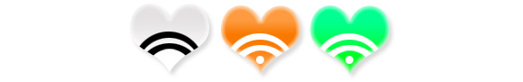 Heart Shaped RSS Icons