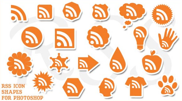 Photoshop Shapes RSS Icons
