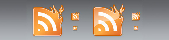 RSS on Fire Icon Pack