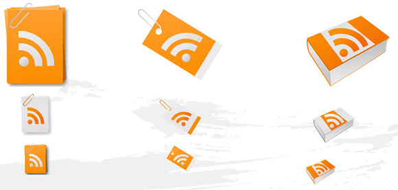 Paper RSS Feed Icons