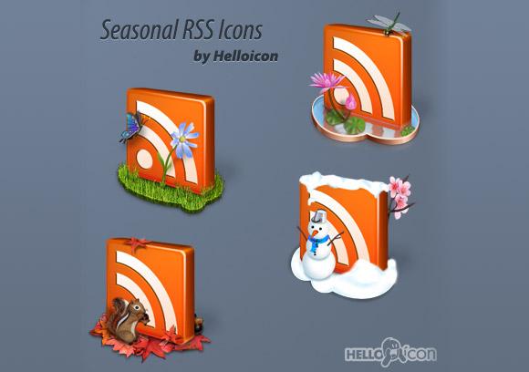 Seasonal RSS Icons