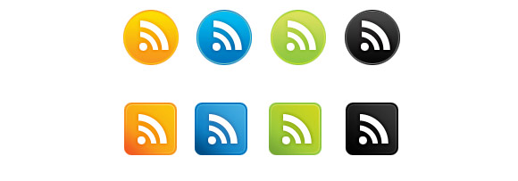 Simple Gradient RSS Icons