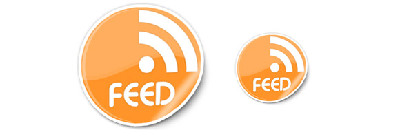 Sticker RSS Feed Icons