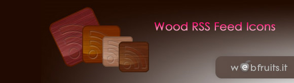 Wood RSS Icons