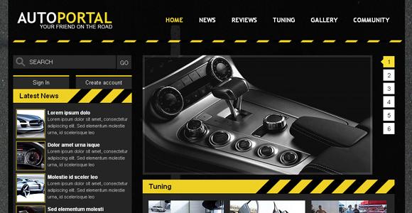 Free Auto Portal Template