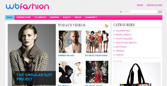 Free Fashion Portal Template
