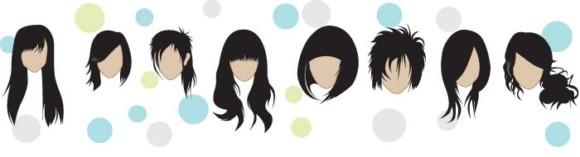 Free Hair Style Vectors