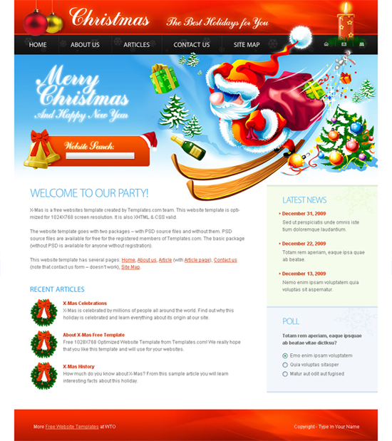 1024x768 Website Template Free-website-template