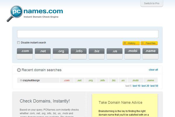 PC Names - Domain Name Search