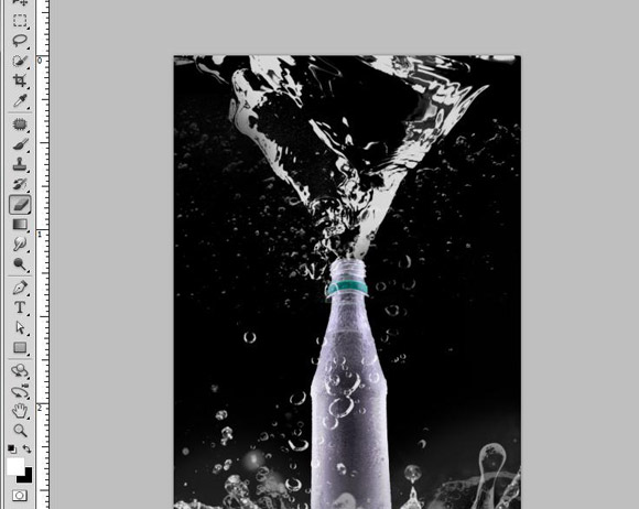 Bottle Ad Photoshop Tutorial - Step 14