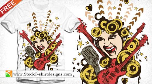 Free Vectors for T-Shirts - Design 26