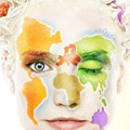 stylistic multicolored map