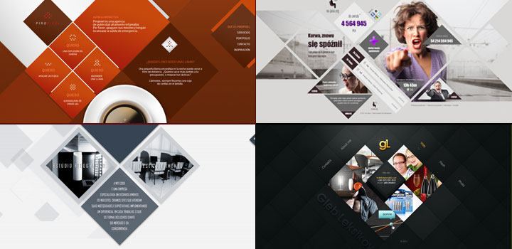 Diamond shapes in Web Design
