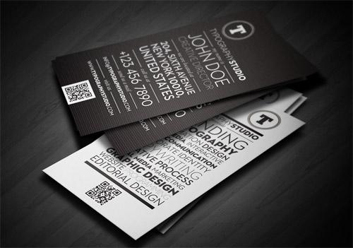 Typography Studio Business card
