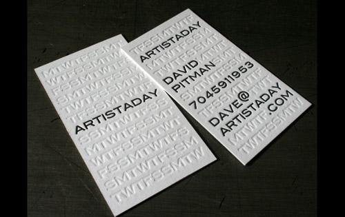 artistaday business card