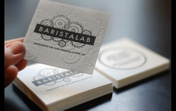 barista lab business card