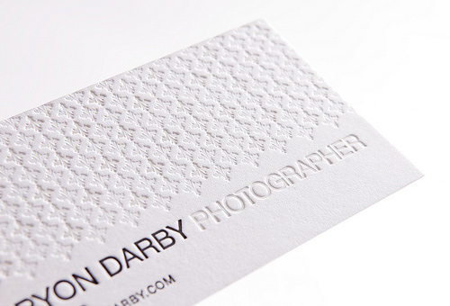 bryon darby photography business card