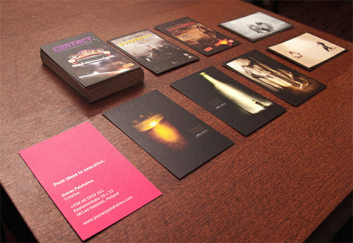 business card with photography