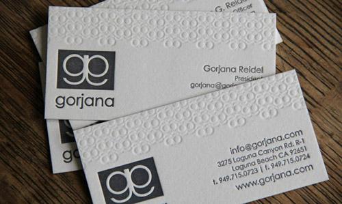 gorjana business card