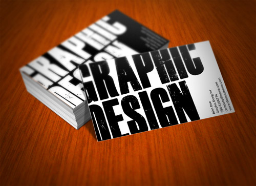 grunge black and white business card