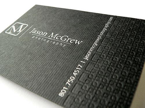 jason mcgrew photography business card