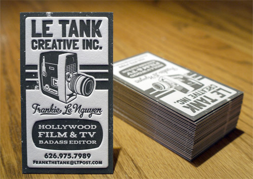 Le Tank Business Cards