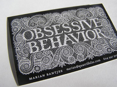 obsessive behavior business card