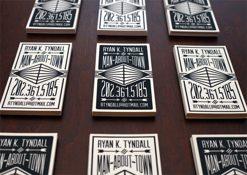 Letterpress Calling Business Cards