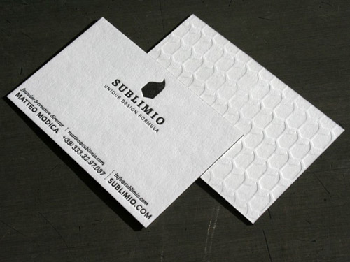 sublimio business card