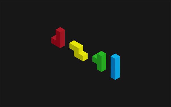 Tetris minimal wallpaper