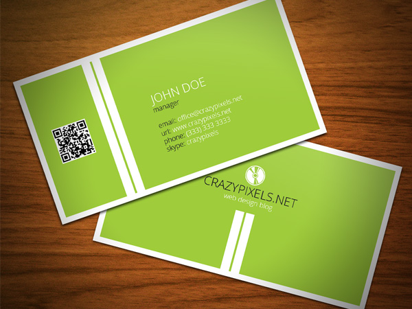 Business Card Giveaway Example 2