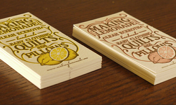 Making Lemonade business card
