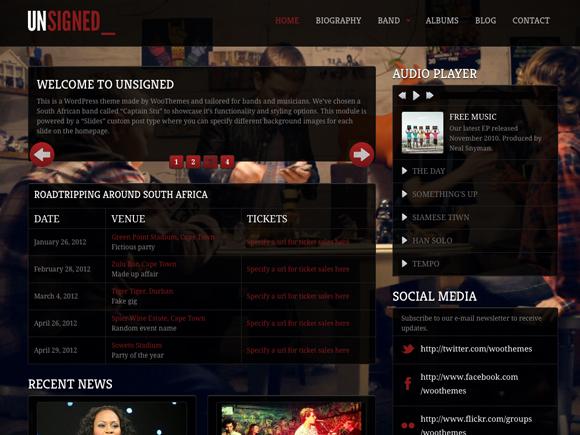 Unsigned Music WordPress Themes