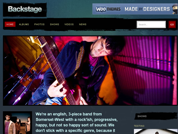Backstage Music WordPress Theme