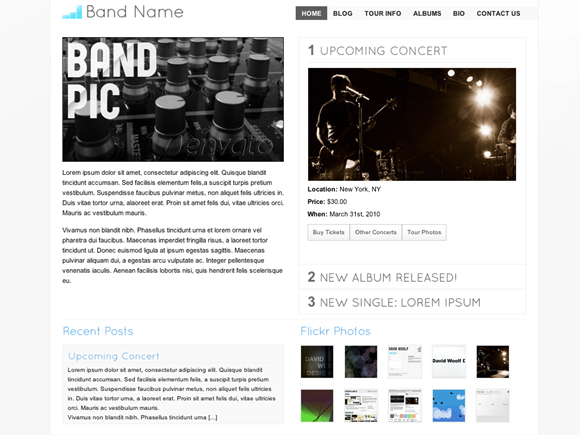 Music WordPress Template - For Musicians / Artists