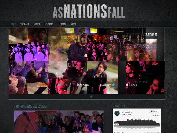 Dark N Gritty Music WordPress Theme
