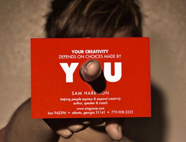 Sam Harrison business card