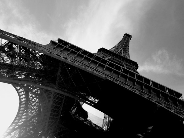 Tour Eiffel Black and White