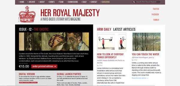 Her Royal Majesty