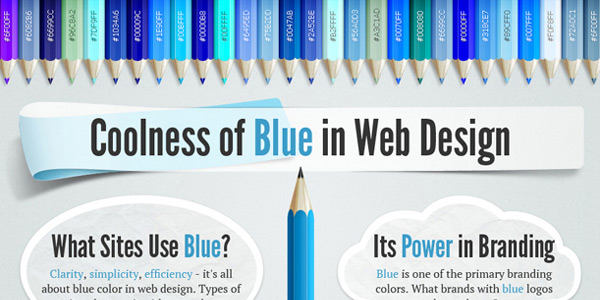 Blue in web design