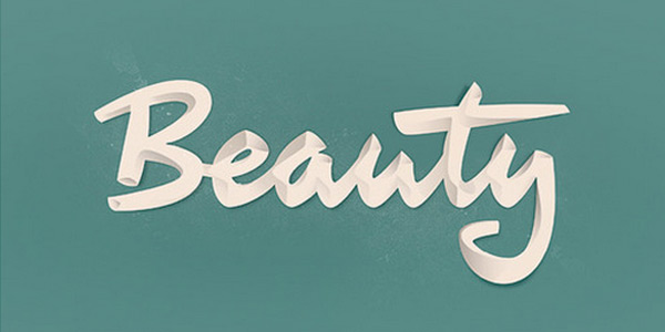beautiful typography in white