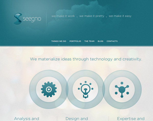 1 Page Portfolio Website Design