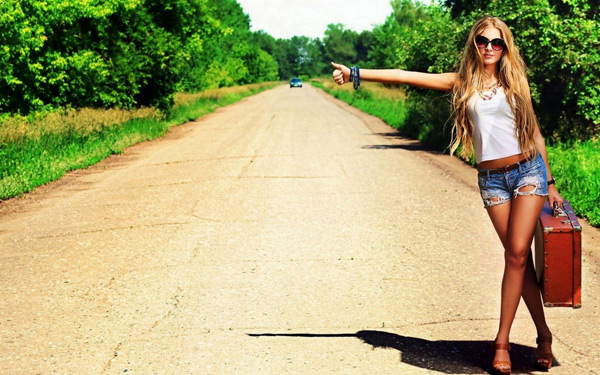Hitchhiking Hot Girl