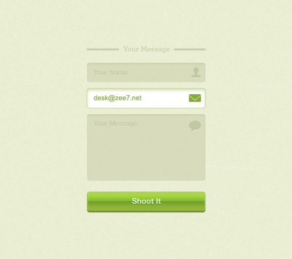 Contact Page in Portfolio Website Design